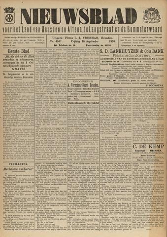 Nieuwsblad het land van Heusden en Altena de Langstraat en de Bommelerwaard 1925-09-18