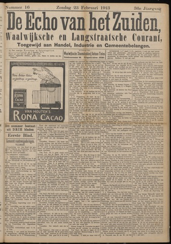 Echo van het Zuiden 1913-02-23
