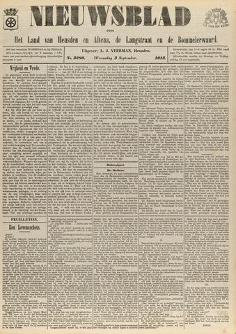 Nieuwsblad het land van Heusden en Altena de Langstraat en de Bommelerwaard 1913-09-03