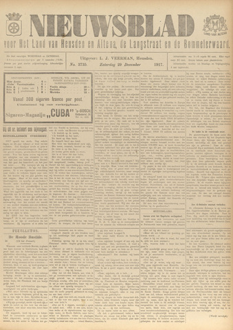 Nieuwsblad het land van Heusden en Altena de Langstraat en de Bommelerwaard 1917-12-29