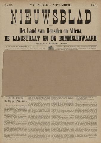 Nieuwsblad het land van Heusden en Altena de Langstraat en de Bommelerwaard 1881-11-09