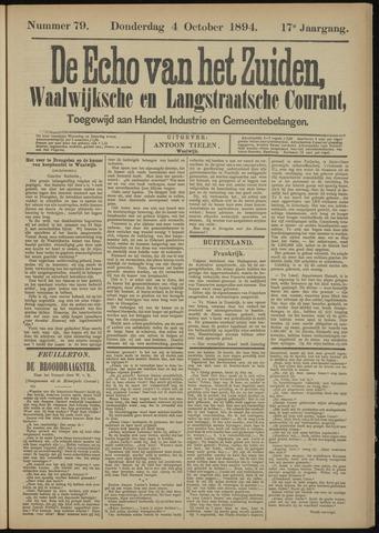 Echo van het Zuiden 1894-10-04