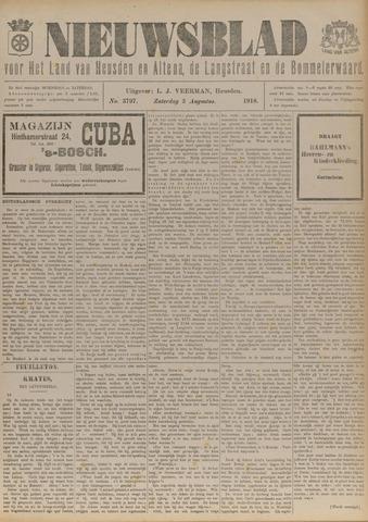 Nieuwsblad het land van Heusden en Altena de Langstraat en de Bommelerwaard 1918-08-03