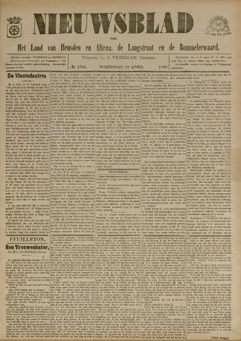 Nieuwsblad het land van Heusden en Altena de Langstraat en de Bommelerwaard 1899-04-12