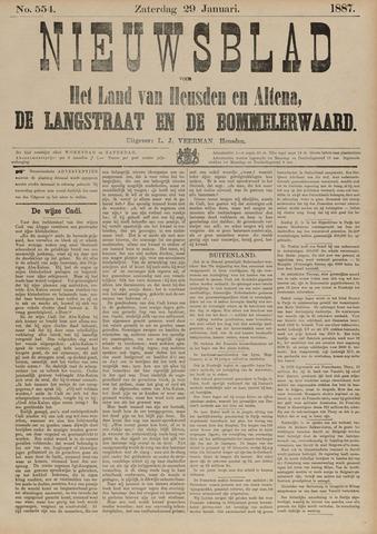 Nieuwsblad het land van Heusden en Altena de Langstraat en de Bommelerwaard 1887-01-29