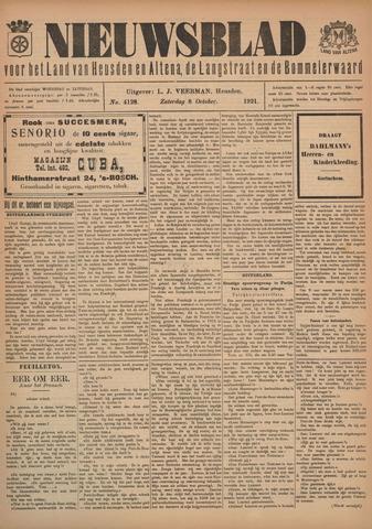Nieuwsblad het land van Heusden en Altena de Langstraat en de Bommelerwaard 1921-10-08