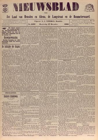 Nieuwsblad het land van Heusden en Altena de Langstraat en de Bommelerwaard 1906-12-27