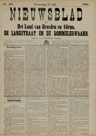 Nieuwsblad het land van Heusden en Altena de Langstraat en de Bommelerwaard 1883-07-11