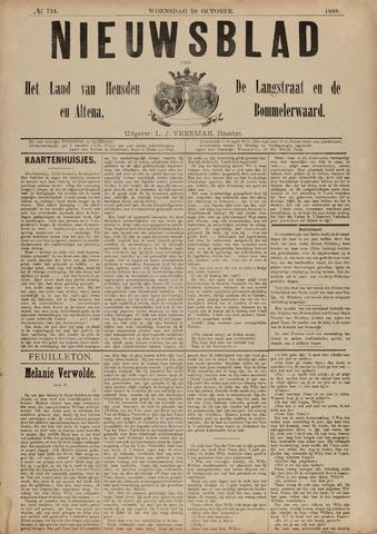 Nieuwsblad het land van Heusden en Altena de Langstraat en de Bommelerwaard 1888-10-10
