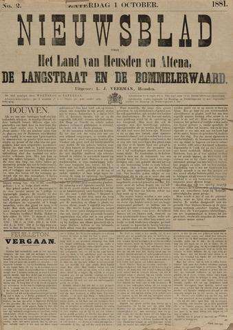 Nieuwsblad het land van Heusden en Altena de Langstraat en de Bommelerwaard 1881-10-01