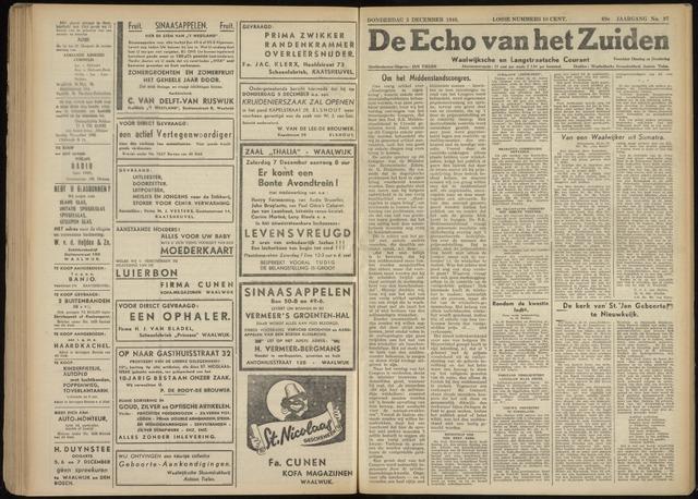 Echo van het Zuiden 1946-12-05