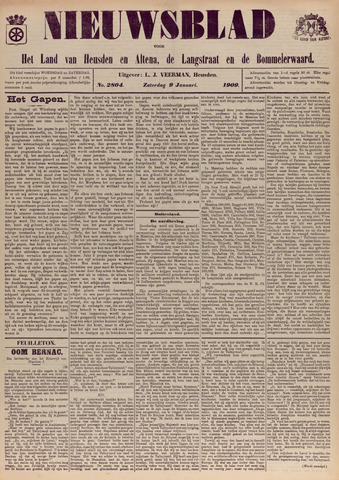 Nieuwsblad het land van Heusden en Altena de Langstraat en de Bommelerwaard 1909-01-09