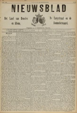 Nieuwsblad het land van Heusden en Altena de Langstraat en de Bommelerwaard 1890-11-22