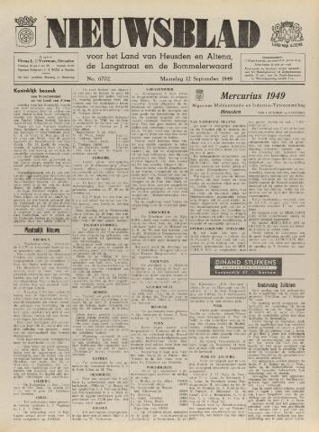 Nieuwsblad het land van Heusden en Altena de Langstraat en de Bommelerwaard 1949-09-12