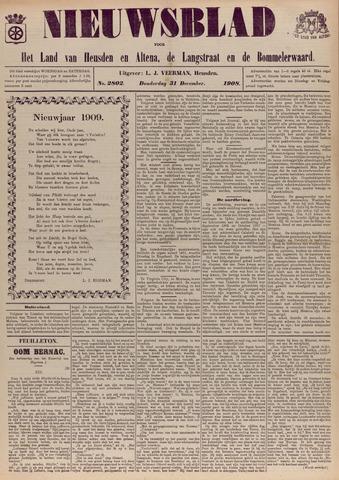 Nieuwsblad het land van Heusden en Altena de Langstraat en de Bommelerwaard 1908-12-31