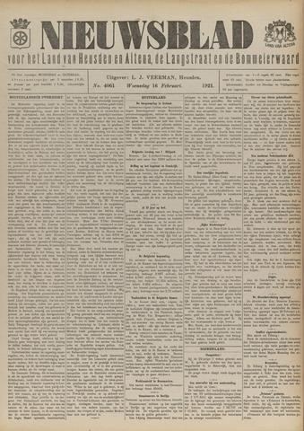 Nieuwsblad het land van Heusden en Altena de Langstraat en de Bommelerwaard 1921-02-16