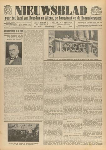 Nieuwsblad het land van Heusden en Altena de Langstraat en de Bommelerwaard 1934-06-27