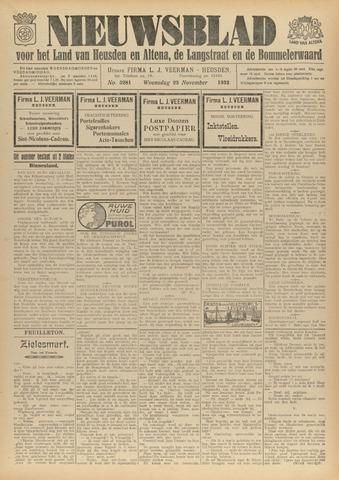 Nieuwsblad het land van Heusden en Altena de Langstraat en de Bommelerwaard 1932-11-23