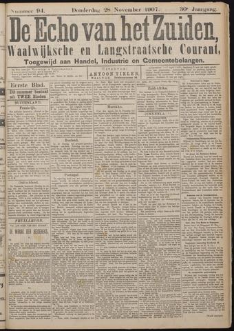Echo van het Zuiden 1907-11-28