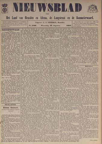 Nieuwsblad het land van Heusden en Altena de Langstraat en de Bommelerwaard 1908-08-26