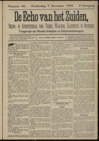 Echo van het Zuiden 1881-12-08