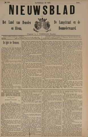 Nieuwsblad het land van Heusden en Altena de Langstraat en de Bommelerwaard 1888-05-26