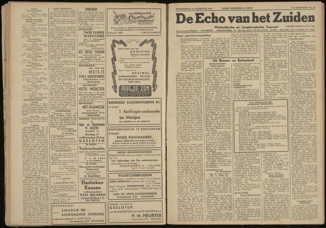 Echo van het Zuiden 1948-08-19