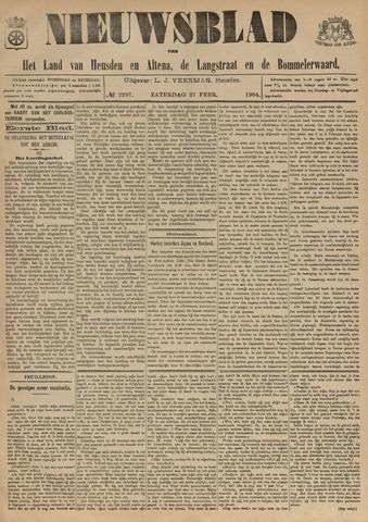 Nieuwsblad het land van Heusden en Altena de Langstraat en de Bommelerwaard 1904-02-27