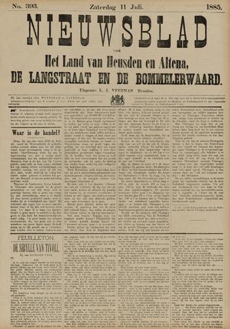 Nieuwsblad het land van Heusden en Altena de Langstraat en de Bommelerwaard 1885-07-11