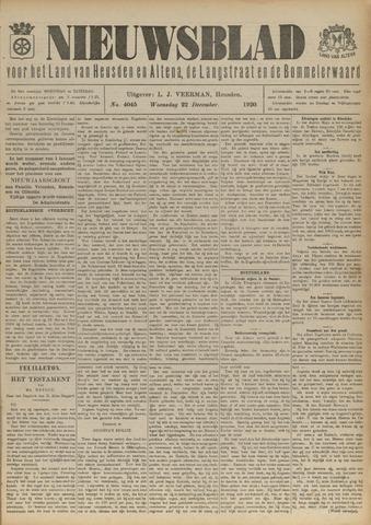 Nieuwsblad het land van Heusden en Altena de Langstraat en de Bommelerwaard 1920-12-22