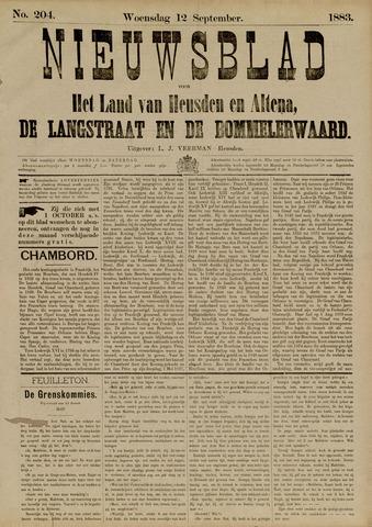 Nieuwsblad het land van Heusden en Altena de Langstraat en de Bommelerwaard 1883-09-12