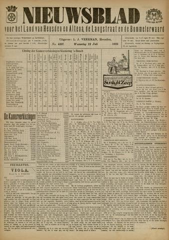 Nieuwsblad het land van Heusden en Altena de Langstraat en de Bommelerwaard 1922-07-12