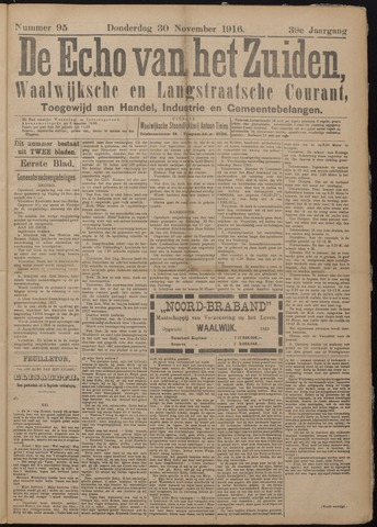 Echo van het Zuiden 1916-11-30