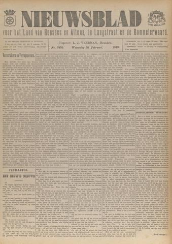 Nieuwsblad het land van Heusden en Altena de Langstraat en de Bommelerwaard 1919-02-26