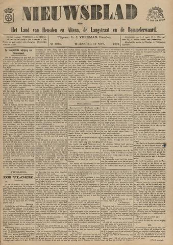 Nieuwsblad het land van Heusden en Altena de Langstraat en de Bommelerwaard 1902-11-19