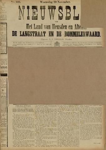 Nieuwsblad het land van Heusden en Altena de Langstraat en de Bommelerwaard 1882-11-29