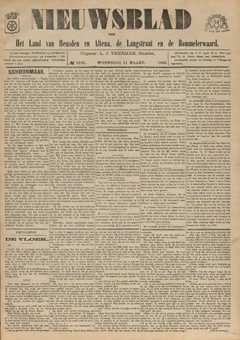 Nieuwsblad het land van Heusden en Altena de Langstraat en de Bommelerwaard 1903-03-11