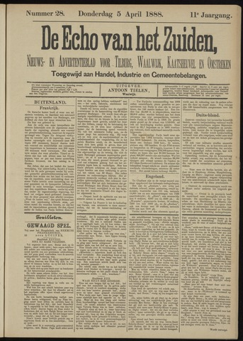 Echo van het Zuiden 1888-04-05