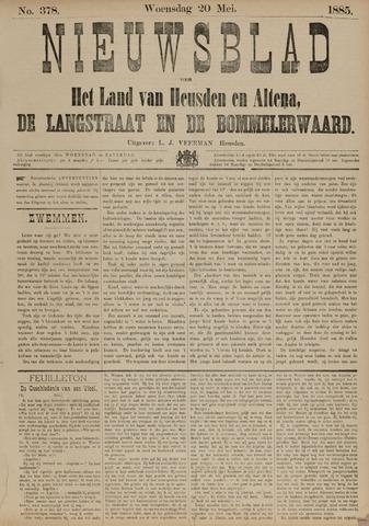 Nieuwsblad het land van Heusden en Altena de Langstraat en de Bommelerwaard 1885-05-20