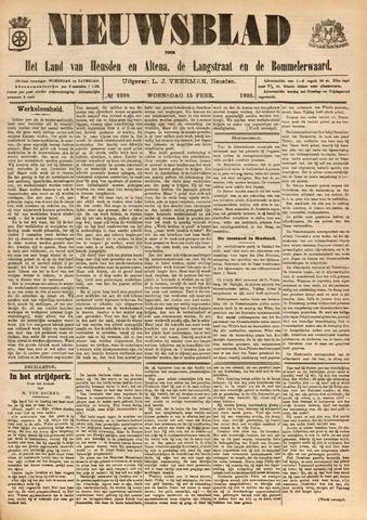 Nieuwsblad het land van Heusden en Altena de Langstraat en de Bommelerwaard 1905-02-15