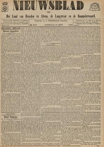 Nieuwsblad het land van Heusden en Altena de Langstraat en de Bommelerwaard 1902-09-13