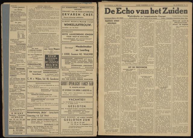 Echo van het Zuiden 1947-07-10