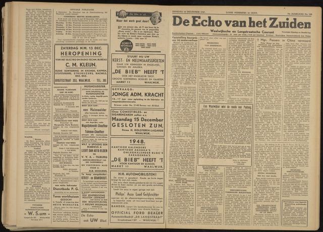 Echo van het Zuiden 1947-12-16