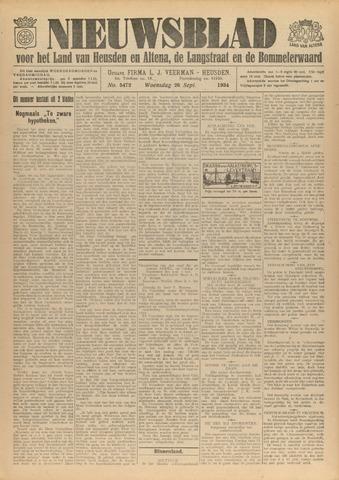 Nieuwsblad het land van Heusden en Altena de Langstraat en de Bommelerwaard 1934-09-26