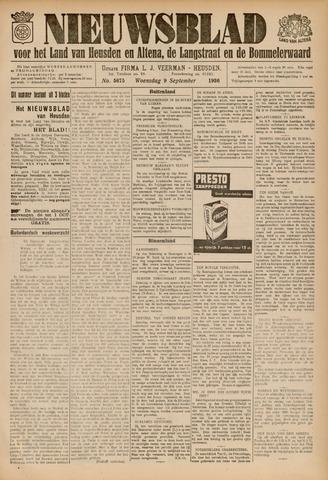 Nieuwsblad het land van Heusden en Altena de Langstraat en de Bommelerwaard 1936-09-09
