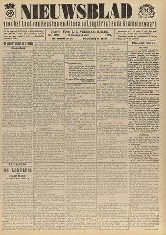 Nieuwsblad het land van Heusden en Altena de Langstraat en de Bommelerwaard 1929-07-03