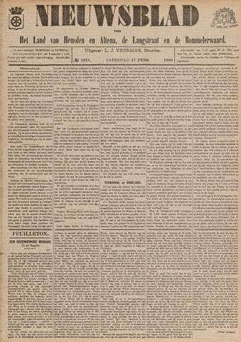 Nieuwsblad het land van Heusden en Altena de Langstraat en de Bommelerwaard 1900-02-17