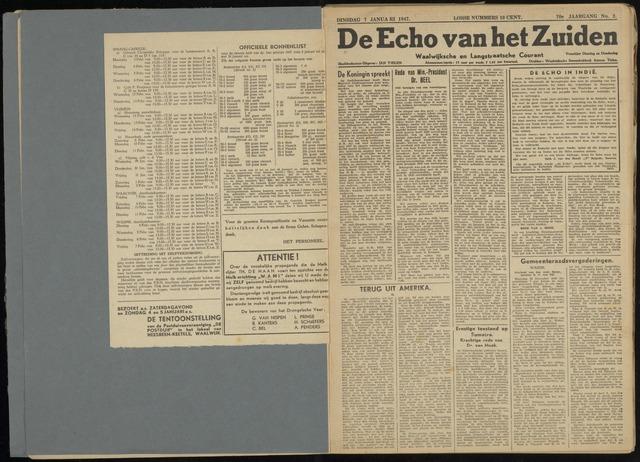 Echo van het Zuiden 1947-01-07