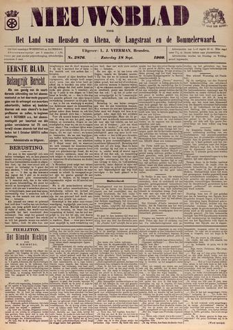 Nieuwsblad het land van Heusden en Altena de Langstraat en de Bommelerwaard 1909-09-18