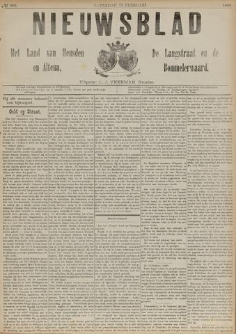 Nieuwsblad het land van Heusden en Altena de Langstraat en de Bommelerwaard 1890-02-22